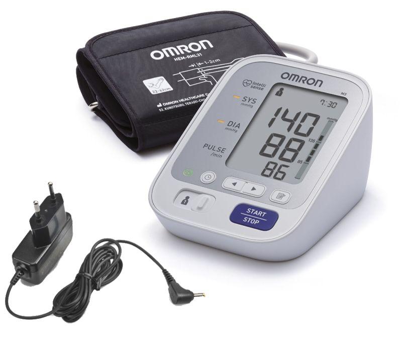 Апарат за измерване на кръвно налягане Omron M3 + подарък..