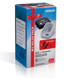 Апарат за измерване на кръвно налягане Omron M3 + подарък адаптер