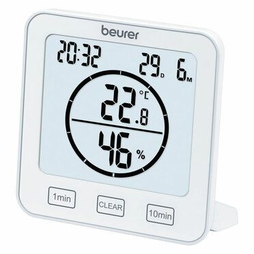 Хигрометър Beurer HM 22 thermo hygrometer; displays temperature, relative humidity, date and time; timer function; sensor buttons