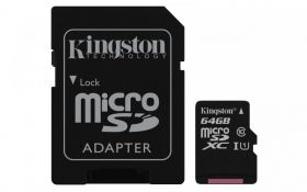 Карта Памет Kingston microSD 32GB Class 10 Gen2 + адаптер