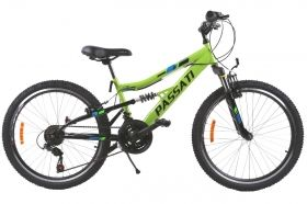 "Велосипед Passati MTB BICYCLE 24""-MAGIC-STEEL-FULL SUSPENSION-18 SPD SHIMANO RS35"