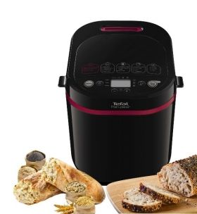 Хлебопекарна Tefal PF220838, Pain Plaisir, Breadmaker, 1 kg, 17 programs, black