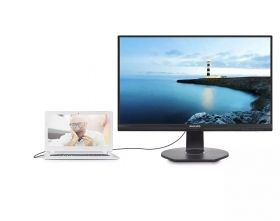 Monitor Philips 23.8 IPS 1920x1080 75Hz, 5ms, 250 cd/m2, VGA, DP, HDMI, USB-C, USB 3.0, (241B7QUPBEB)