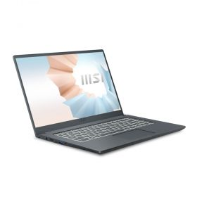 "Лаптоп MSI Modern 15 A11M, i5-1135G7, 15.6"" FHD 1920x1080, IPS-Level, AG, Iris Xe graphics, 8GB DDR4 3200 (1x8, 2 slots, up to 64GB), 512GB PCIe GEN3x4 SSD, 1xM.2 free, NO OS, Thunderbolt 4, backlight KB White, Webcam, Wi-Fi 6, MIL-810G, 2Y, Carbon Gray,"
